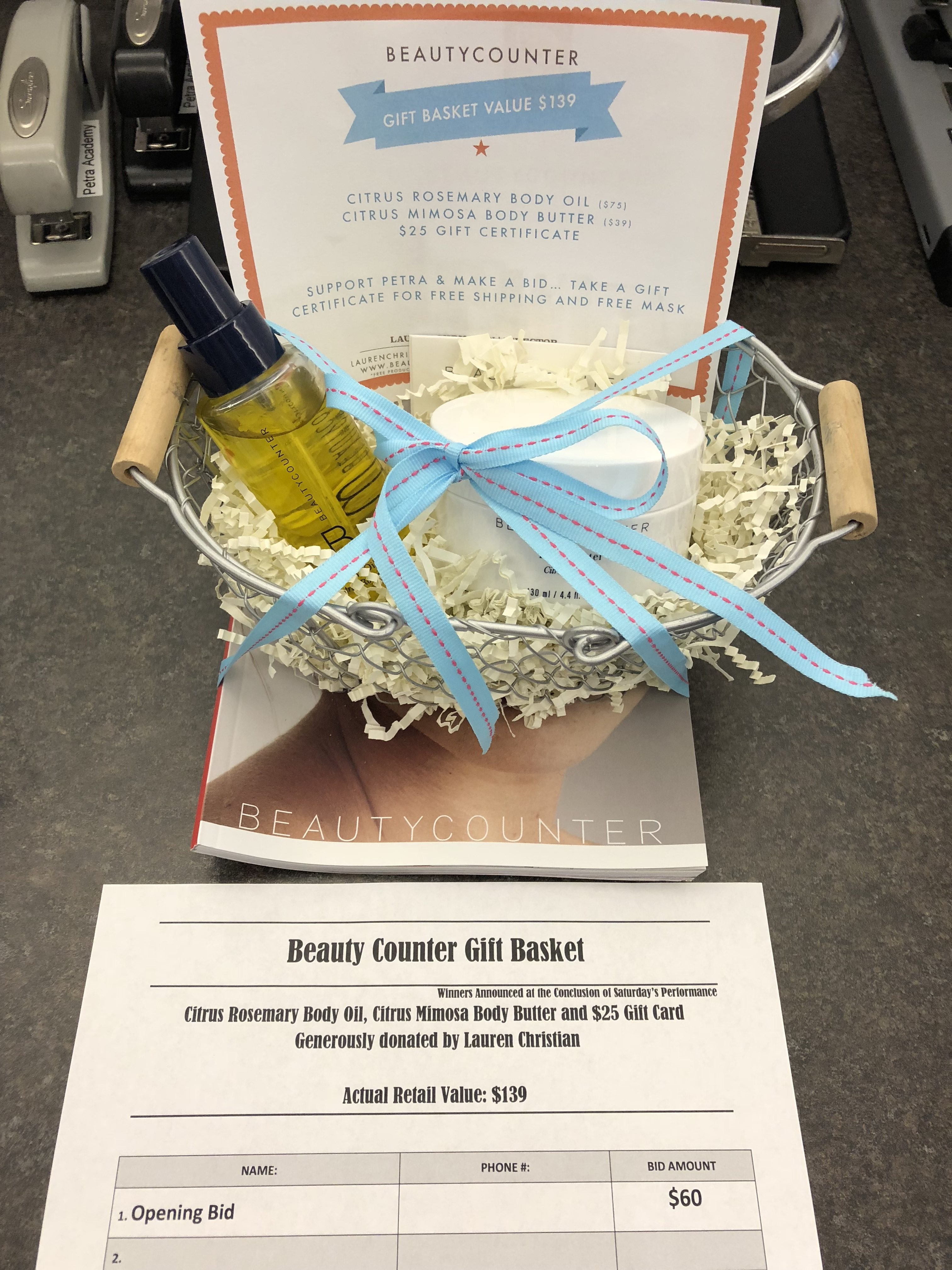 Beauty Counter Gift Basket