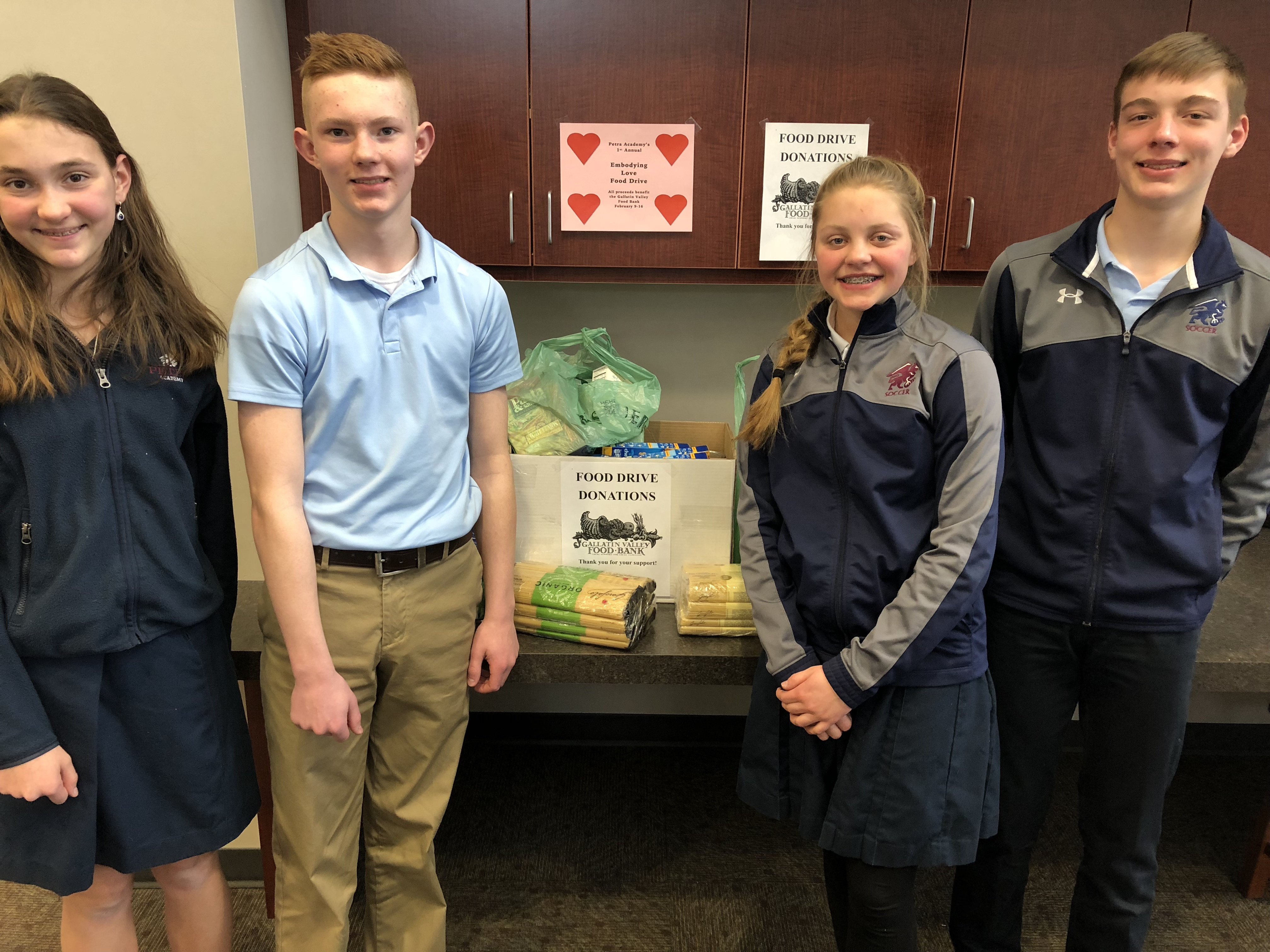 Embodying Love Food Drive Petra Academy